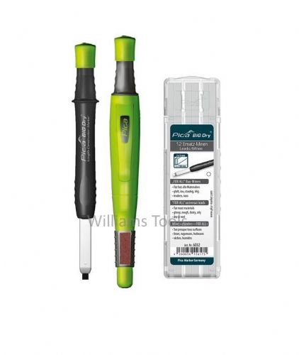 Pica BIG DRY Automatic Marker/Pencil 6060 + 6032 REFILL White ONLY pk12